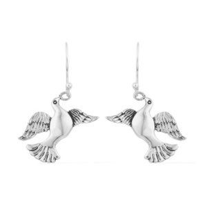 Jewelry - Artisan Crafted Dove Earrings in Sterling Silver